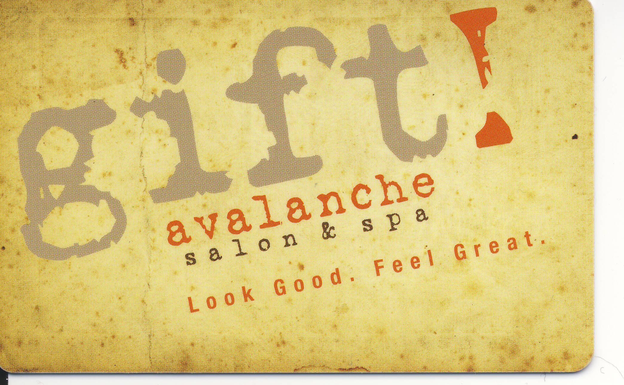 Avalanche Salon & Spa Gift Card